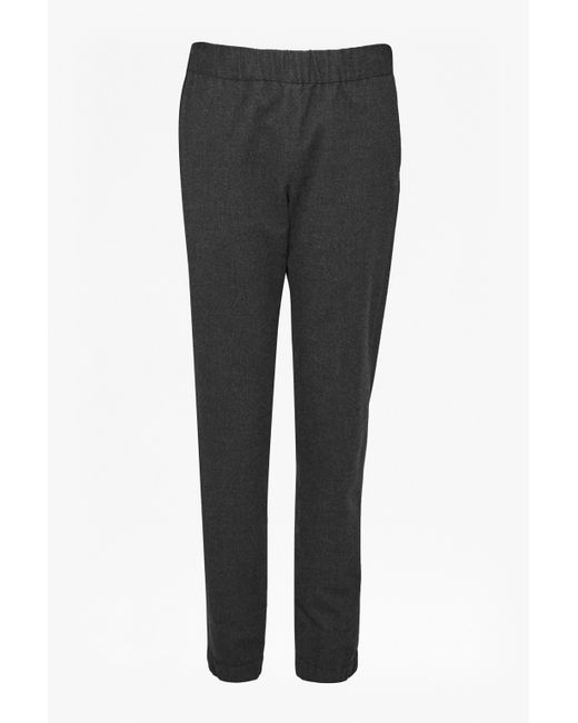 French Connection | Gray Winter Flannel Jogger Trousers | Lyst