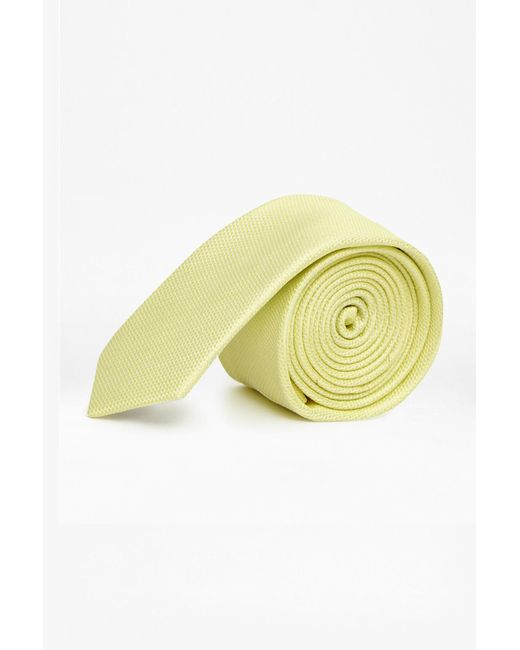 French Connection | Yellow Plain Skinny Silk Tie for Men | Lyst