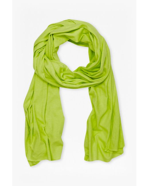 French Connection | Green Walter Linen-blend Scarf | Lyst