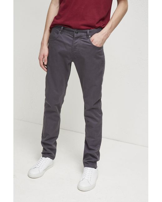 French Connection - Gray Machine Gun Stretch 5 Pocket Trousers for Men - Lyst