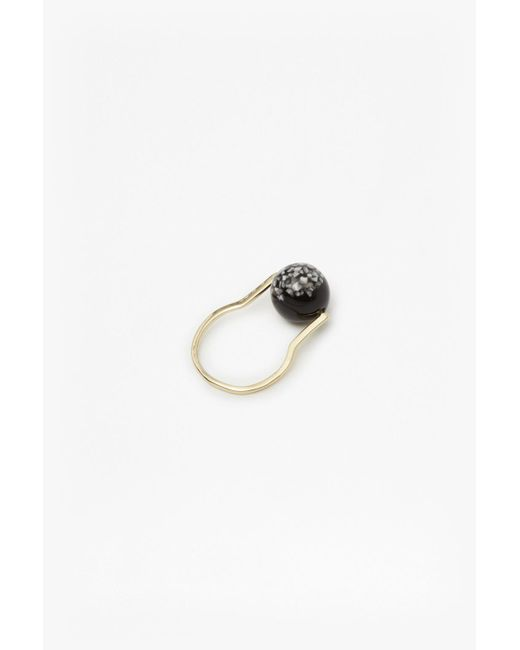 French Connection - Metallic Geo Resin Ball Ring - Lyst