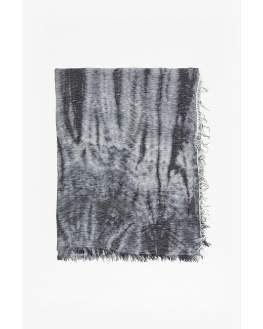French Connection   Gray Monochrome Tie Dye Scarf   Lyst