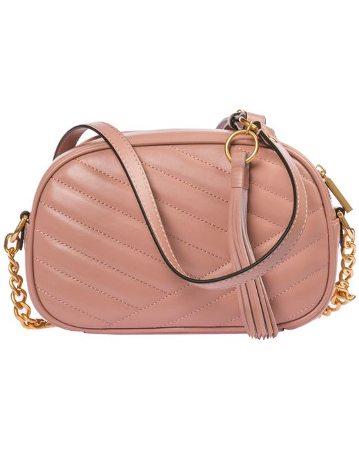 df2b1808e535 ... Tory Burch - Pink Leather Shoulder Bag - Lyst ...
