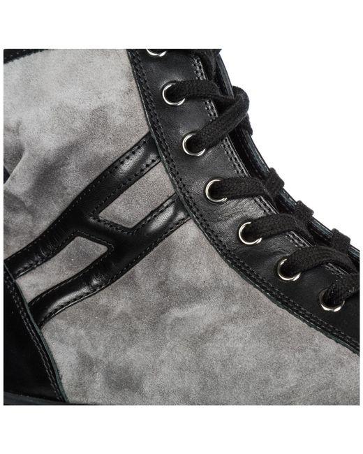 b80ddb7ece2 ... Hogan Rebel - Black Shoes High Top Suede Trainers Sneakers R141 - Lyst