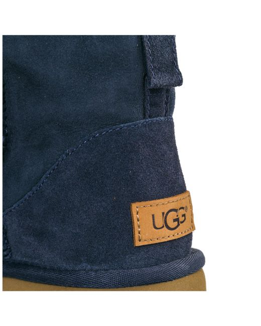 f05f5b37e93 Lyst - UGG Suede Ankle Boots Booties Classic Mini Ii in Blue
