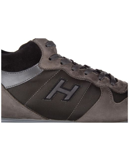 fe664401fd8 ... Hogan - Brown Shoes Leather Trainers Sneakers Mid Cut H205 Olympia H  Flock for Men ...