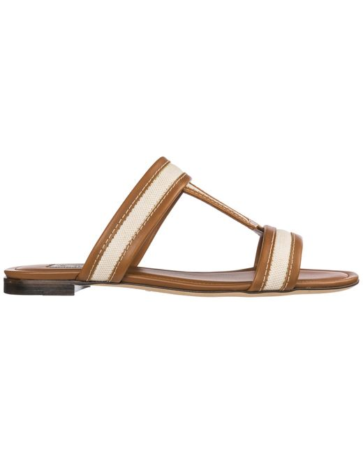 Tod's Brown Leather Sandals