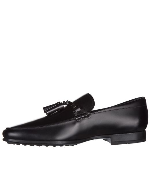 9301cc3f1e2 ... Lyst Tod s - Black Leather Loafers Moccasins Doppia T Nappine for Men  ...