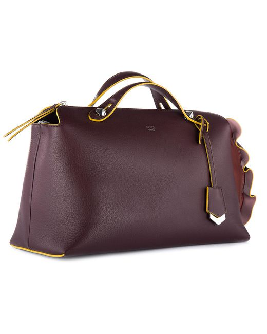 ... Fendi - Purple Leather Handbag Shopping Bag Purse Bauletto Grande By  The Way Coda Waves ... 6c73639afe310