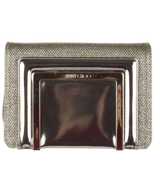 Jimmy Choo - Multicolor Leather Clutch With Shoulder Strap Handbag Bag Purse Ava - Lyst