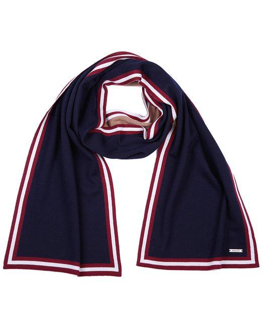 Bally - Blue Wool Scarf for Men - Lyst