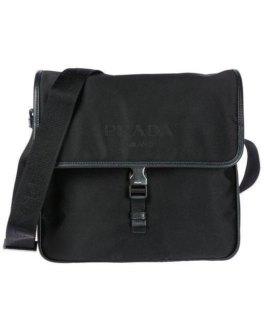 Prada - Black Nylon Cross-body Messenger Shoulder Bag for Men - Lyst