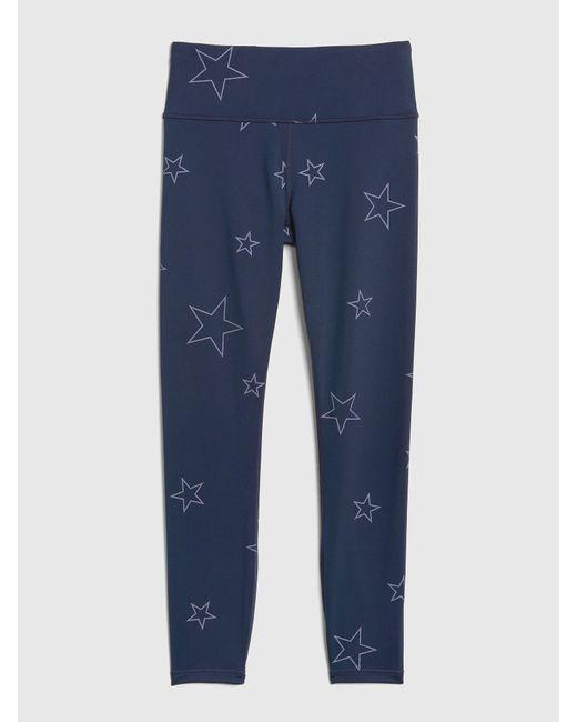 4065d6d6ae145 ... Gap - Blue Fit Winterbrush High Rise Reflective Star Print Full Length  Leggings - Lyst ...