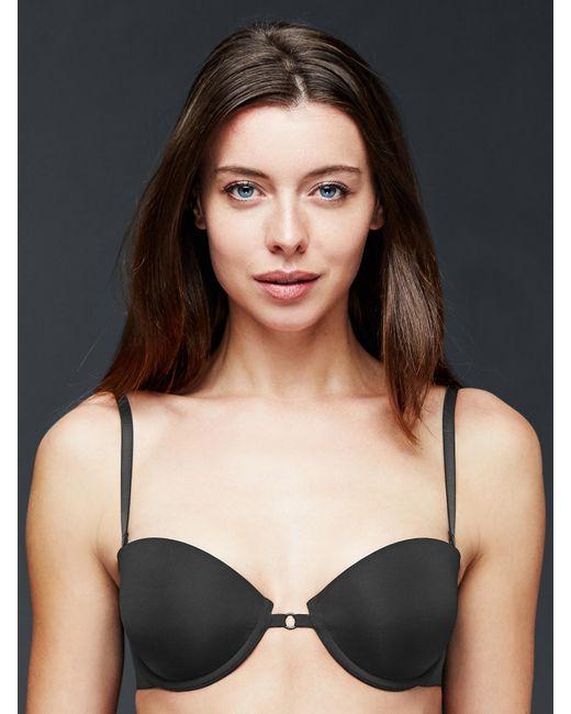 Gap strapless bra in black true black lyst for Strapless t shirt bra