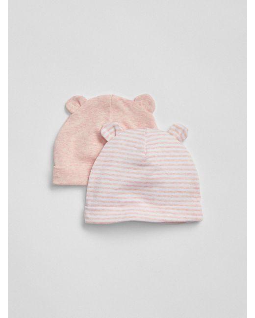 Lyst - Gap First Favorite Stripe Bear Hat (2-pack) in Pink 8188382f9ae