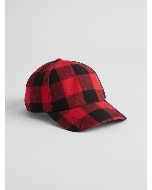 Lyst - Gap Factory Plaid Baseball Hat in Red for Men 1c4dbdee4f25