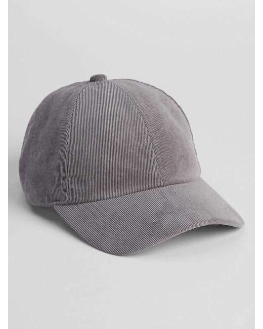 GAP Factory - Gray Corduroy Baseball Hat for Men - Lyst