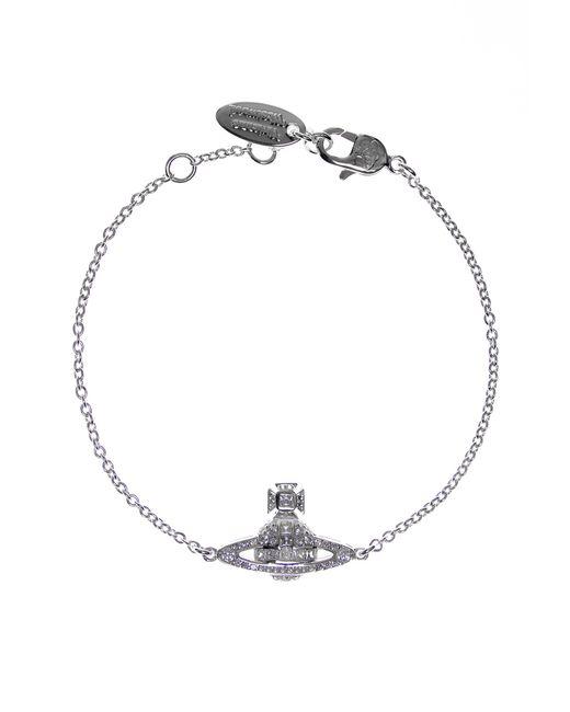 Vivienne Westwood | Clotilde Orb Bracelet Rhodium/white | Lyst