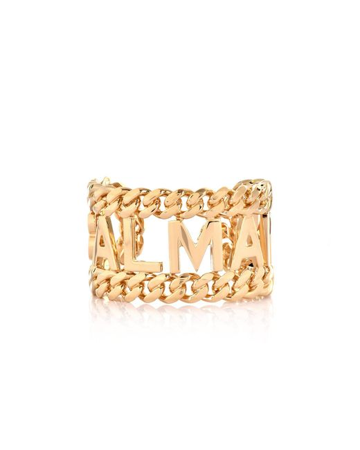 Balmain - Metallic Large Chain Cuff Gold - Lyst