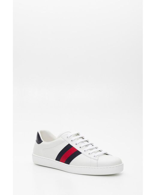 ed0aff665 ... Gucci Multicolor Ace Leather Trainers for men ...