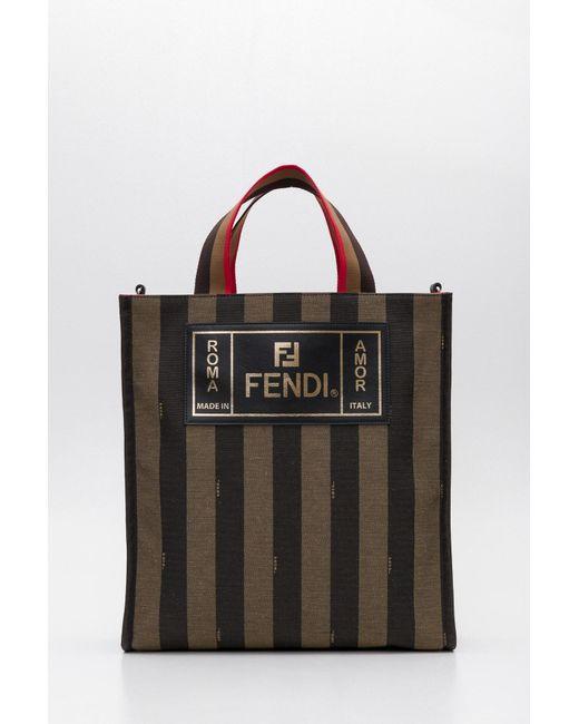 b3496bcece Fendi - Black Striped Tote Bag for Men - Lyst ...