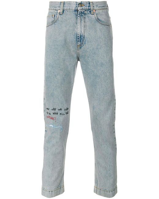 Gucci - Blue Coco Capitan Cropped Jeans for Men - Lyst