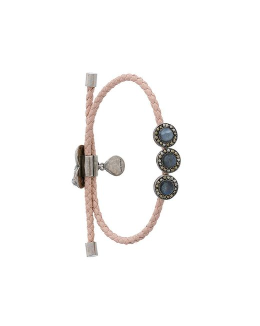 Alexander McQueen - Multicolor Embellished Leather Bracelet - Lyst