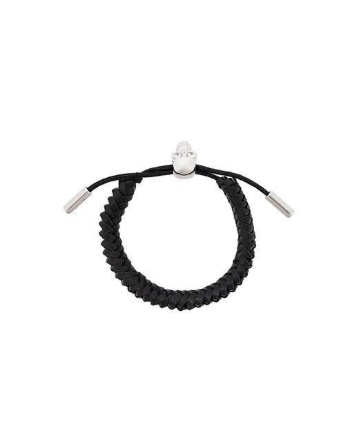 Alexander McQueen - Multicolor Woven Skull Bracelet for Men - Lyst