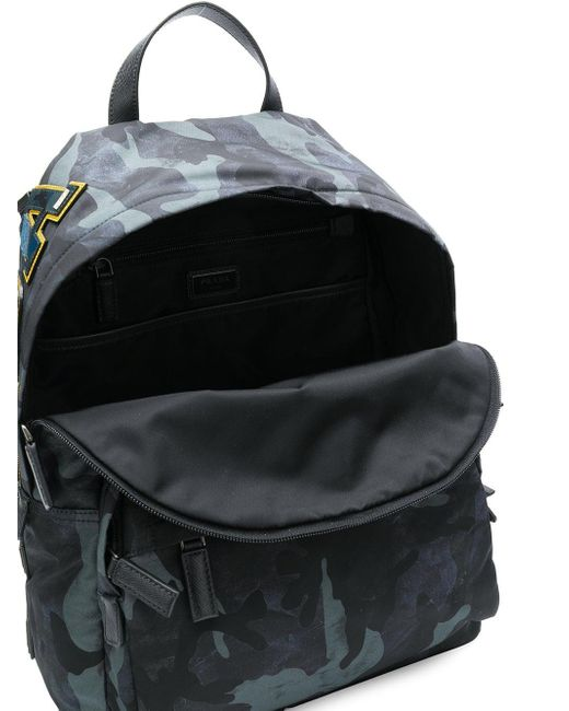 ea1a1242a780 ... where can i buy prada black robot backpack for men lyst 9cafa 65f40