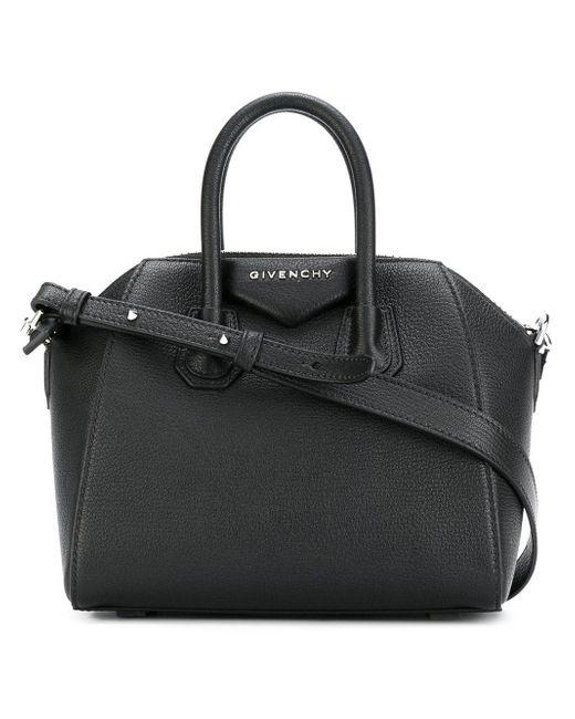 Givenchy - Black Mini Antigona Bag In Grained Leather - Lyst ... 7e810850051f0
