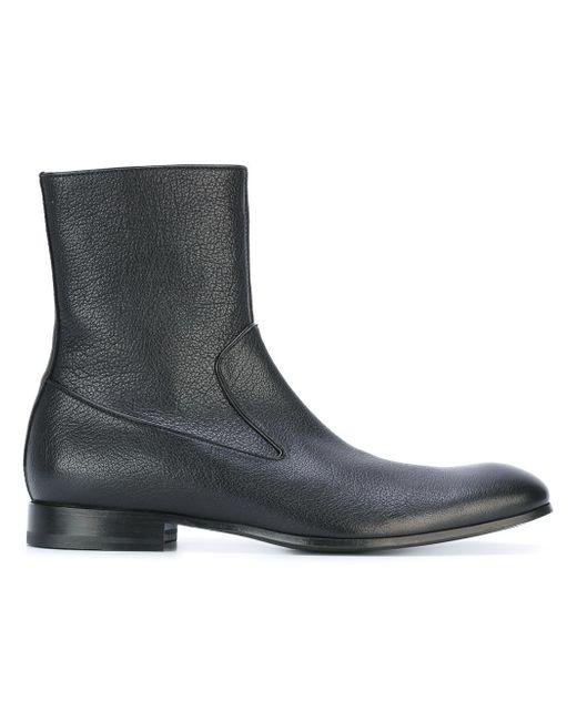 Alexander McQueen - Black Zip Ankle Boots for Men - Lyst