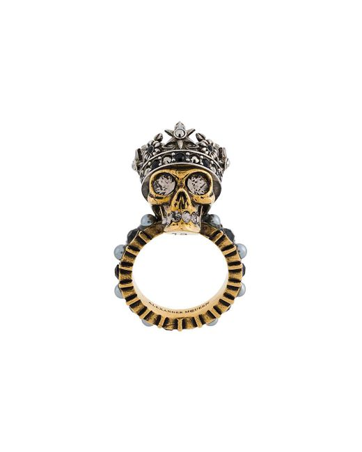 Alexander McQueen | Multicolor King Skull Ring | Lyst
