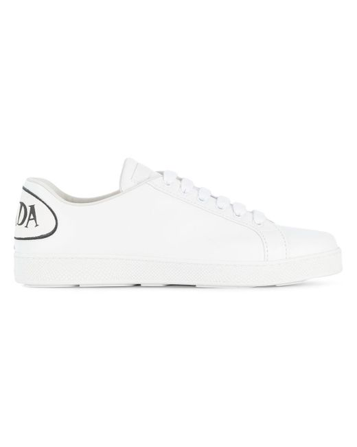 PradaLeather Speech Bubble Logo Sneakers 11VILD3