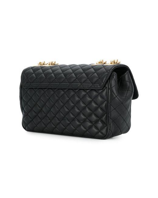881bb0815e93 ... Lyst Dolce   Gabbana - Black Quilted Logo Shoulder Bag ...