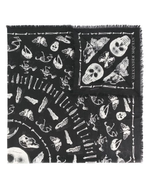 Alexander McQueen | Multicolor Skull Wool And Silk Scarf for Men | Lyst