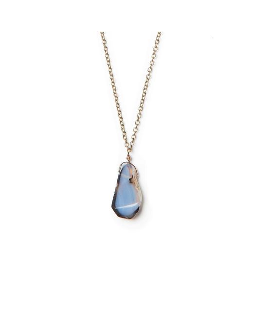 G.H. Bass & Co. - Metallic Astali ® Agate Stone Necklace - Lyst