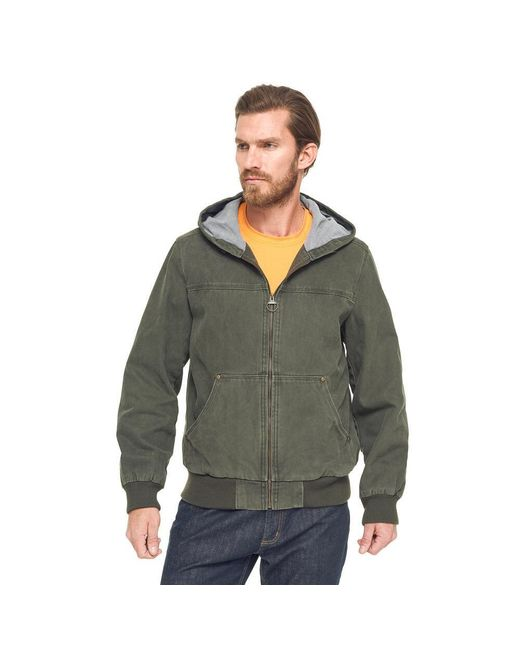 G.H. Bass & Co. | Green Canvas Hooded Bomber Jacket for Men | Lyst