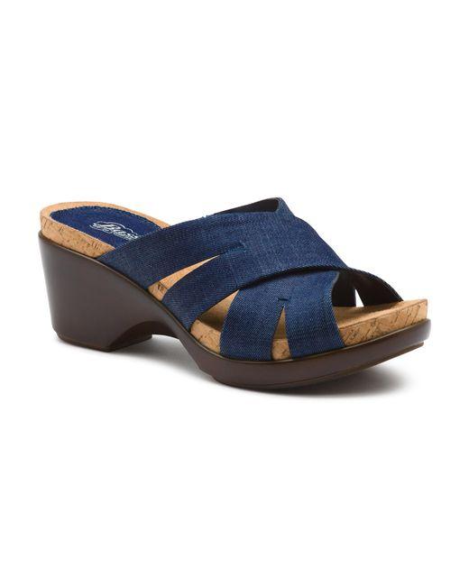 G.H. Bass & Co. | Blue Maryann Comfort Sandal | Lyst