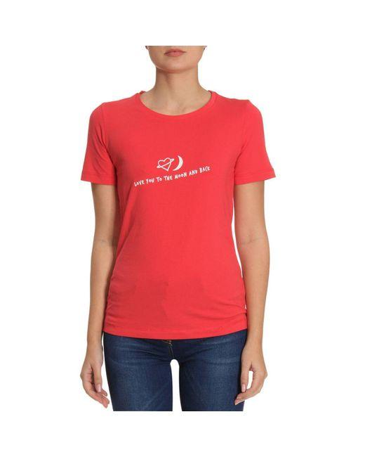 Emporio Armani - Red T-shirt Women - Lyst