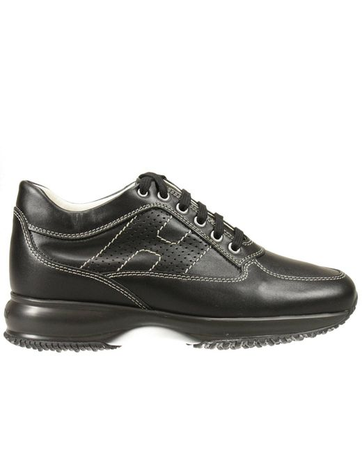 Hogan - Black Sneakers Interactive Leather H Forata - Lyst