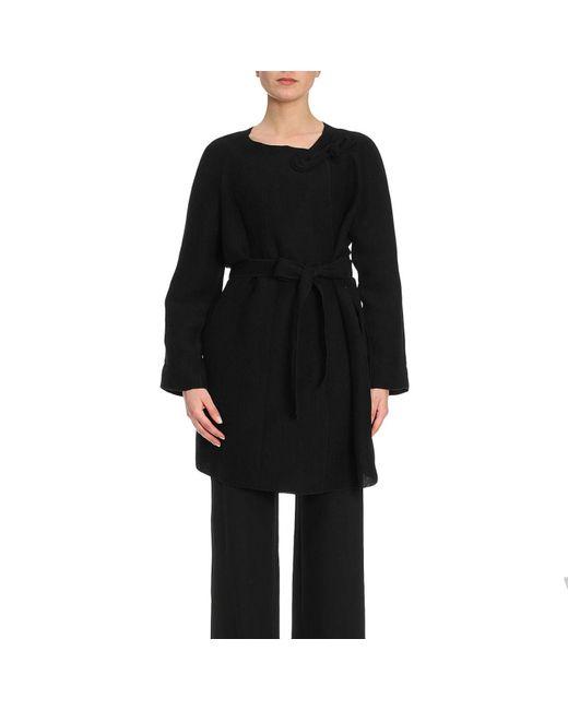 Emporio Armani - Black Coat Women - Lyst