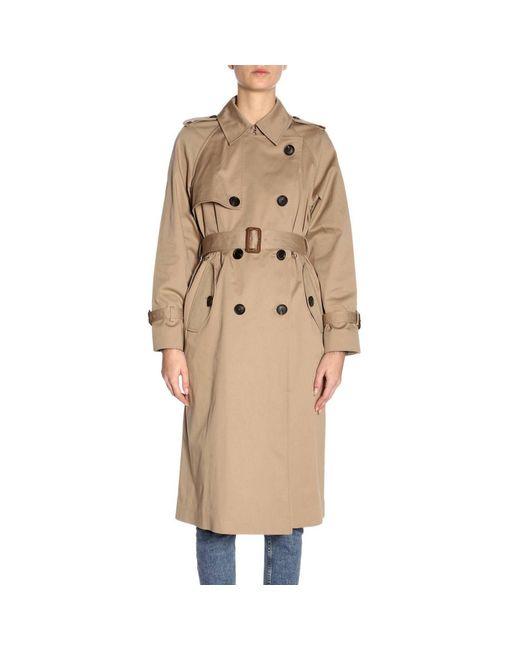 842c802e2e5e Miu Miu - Natural Coat Women - Lyst ...