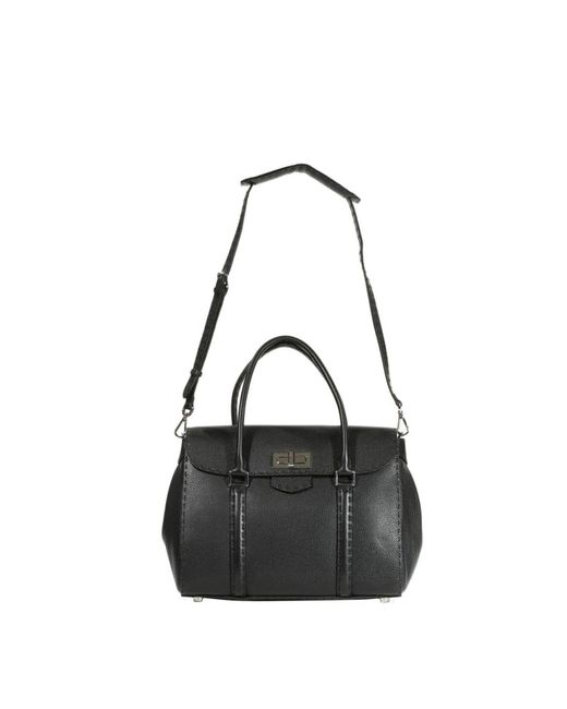 Fendi | Black Handbag Selleria Linda Medium Roman Leather | Lyst