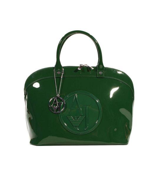 Armani Jeans | Green Handbag Patent Bugatti | Lyst