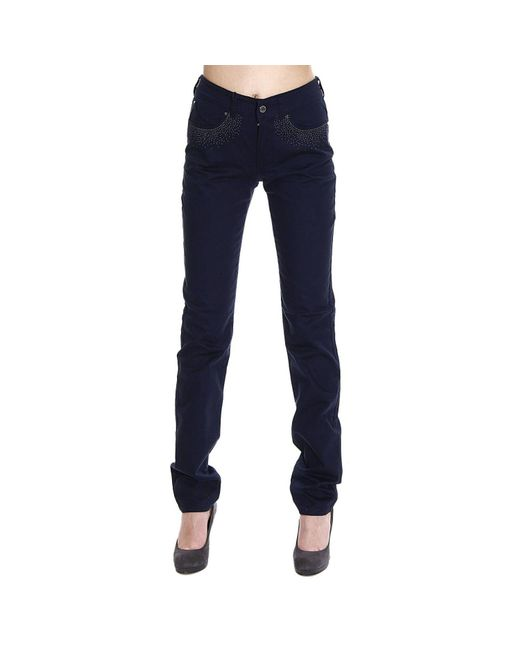 Armani Jeans | Blue Jeans Bull Stretch Waist High With Studs | Lyst