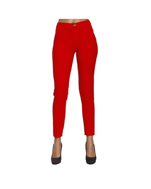 Armani Jeans | Red Pantalone Chino Crepes | Lyst
