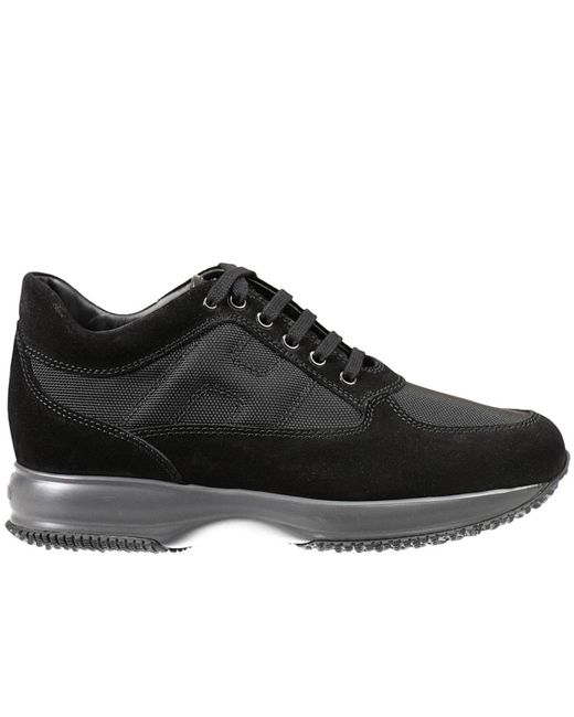 Hogan | Black Sneakers Interactive Padded H Suede And Nylon for Men | Lyst
