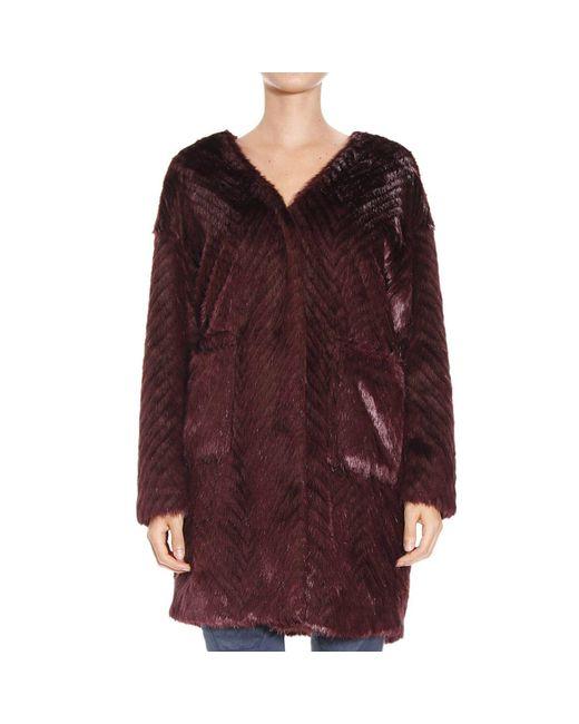 Pinko | Red Women's Coat | Lyst