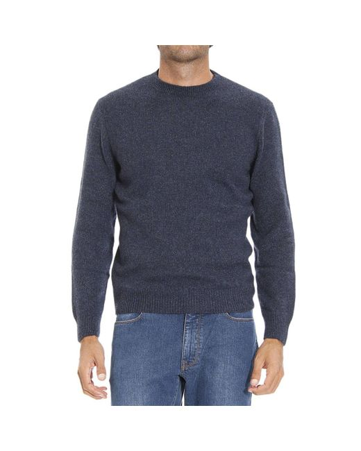 Ermenegildo Zegna | Blue Men's Sweater for Men | Lyst