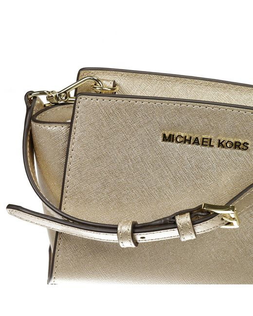 michael michael kors michael kors women 39 s clutch in gold lyst. Black Bedroom Furniture Sets. Home Design Ideas